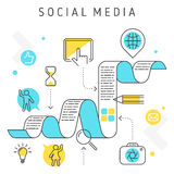 Ogólnospołeczne sieci ilustracji