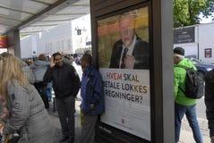 OGÓLNOSPOŁECZNEGO DEMOKRATA wybory COMPAIGN billboard Fotografia Stock