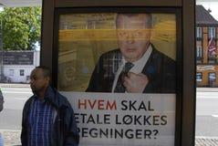 OGÓLNOSPOŁECZNEGO DEMOKRATA wybory COMPAIGN billboard Obrazy Royalty Free