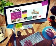 Ogólnospołecznego Medialnego blogu gadki Komunikacyjna komunikacja Obrazy Stock