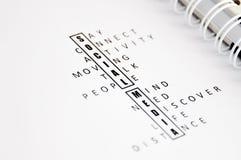 Ogólnospołeczni medialni crosswords Fotografia Stock