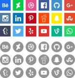 Ogólnospołeczni medialni networking znaka logowie obrazy stock