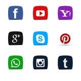 Ogólnospołeczny medialny ikona set Obraz Royalty Free
