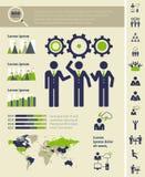 Ogólnospołeczny Medialny Infographic szablon. Obrazy Royalty Free
