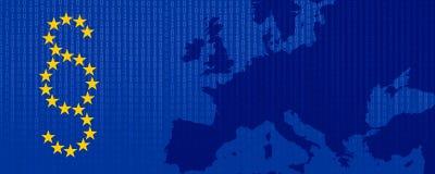 Ogólny ochrona danych przepis GDPR DSGVO royalty ilustracja