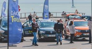Ogólny plan wydarzenia Dacia wycieczka turysyczna 2017 Obraz Royalty Free