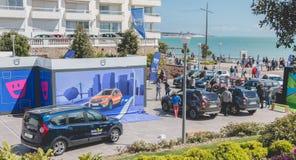 Ogólny plan wydarzenia Dacia wycieczka turysyczna 2017 Zdjęcie Royalty Free