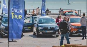 Ogólny plan wydarzenia Dacia wycieczka turysyczna 2017 Obrazy Royalty Free