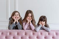Ogólny portret dla trzy małych princesses zdjęcia stock