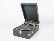 Ogólny widok bez gramofonowych rejestrów na białym tle Obrazy Royalty Free