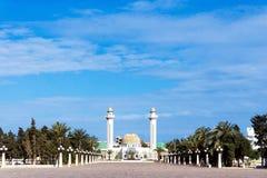 Ogólny widok Bourguiba mauzoleum w Monastir, Tunezja obraz stock