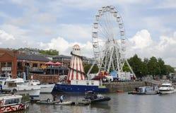 Ogólny widok Bristol schronienia festiwal zdjęcia royalty free