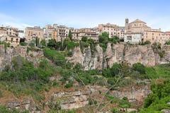 Ogólny widok Cuenca miasteczko w ranku Obrazy Stock