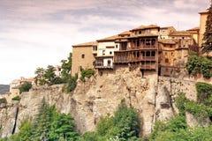 Ogólny widok Cuenca miasteczko w ranku. Los Angeles Mancha, Obrazy Stock