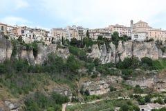 Ogólny widok Cuenca miasteczko w ranku. Los Angeles Mancha, Fotografia Royalty Free