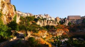 Ogólny widok Cuenca od Saint Paul mosta Obrazy Royalty Free