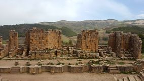 Ogólny widok forum, ruin& x27; s djemila, Algeria Obrazy Stock