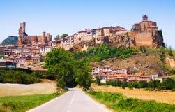 Ogólny widok Frias w lecie Burgos obraz stock