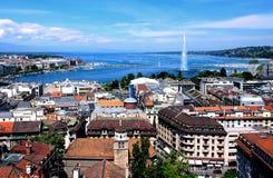 Ogólny widok Genewa, w Szwajcaria Zdjęcie Royalty Free
