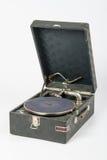 Ogólny widok gramofon na białym tle Zdjęcie Royalty Free