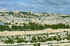 Ogólny widok Jerozolima Fotografia Stock