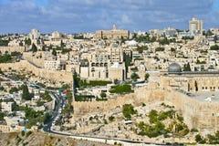Ogólny widok Jerozolima Zdjęcie Royalty Free