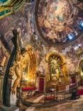 Ogólny widok kościół San Antonio De Los Alemanes, Madryt fotografia stock