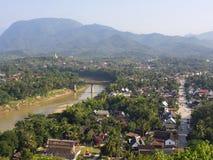 Ogólny widok Luang Prabang, Laos Obrazy Stock
