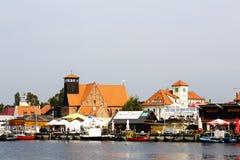 Ogólny widok miast Hel w Polska Obrazy Royalty Free