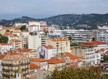 Ogólny widok miasto Cannes od wierzchołka zdjęcia stock