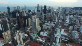Ogólny widok miasto Panama i jego miejsca pracy zbiory