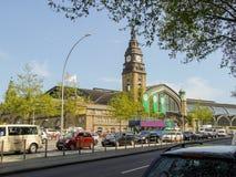 Ogólny widok na Hamburskiego centrala poręcza śmiertelnie budynku Fotografia Royalty Free