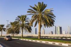 Ogólny widok nowożytni budynki w Sharjah Zdjęcie Royalty Free