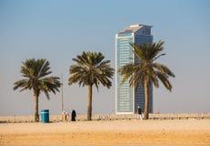 Ogólny widok nowożytni budynki w Sharjah Obraz Royalty Free