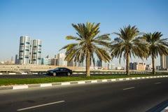 Ogólny widok nowożytni budynki w Sharjah Fotografia Stock