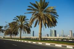 Ogólny widok nowożytni budynki w Sharjah Fotografia Royalty Free