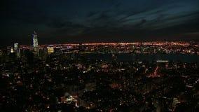 Ogólny widok nyc przy nocą zdjęcie wideo