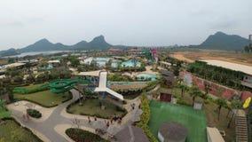 Ogólny widok od above Aqua park Ramayana Tajlandia zdjęcie wideo