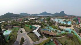 Ogólny widok od above Aqua park Ramayana Tajlandia zbiory