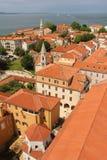 Ogólny widok stary miasteczko Zadar Chorwacja Zdjęcia Stock