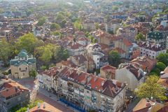 Ogólny widok Varna, Bułgaria, Czarny Denny wybrzeże Fotografia Royalty Free