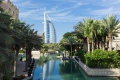 Ogólny widok światowy ` s pierwszy siedem gwiazd luksusowy hotel Burj Zdjęcie Royalty Free