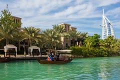 Ogólny widok światowy ` s pierwszy siedem gwiazda luksusowego hotelu Bu Zdjęcia Royalty Free