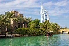 Ogólny widok światowy ` s pierwszy siedem gwiazda luksusowego hotelu Bu Zdjęcia Stock