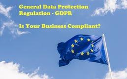 Ogólnych dane ochrony przepis GDPR przychodzi w siłę na Maju 25th, 2018 Obrazy Royalty Free