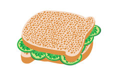 Ogórkowa kanapka. Zdjęcia Stock