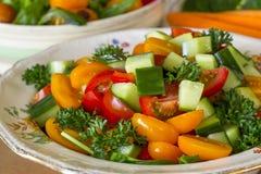 ogórkowej świeżej sałaty mieszanki sałatkowy pomidorowy warzywo Zdjęcie Royalty Free