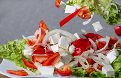 ogórkowej świeżej sałaty mieszanki sałatkowy pomidorowy warzywo Obraz Royalty Free