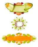 ogórkowi dekoracyjni elementy Obraz Royalty Free