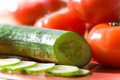 ogórkowi pomidorów fotografia royalty free